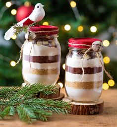 Des cadeaux de noël à faire soi-même : Femme Actuelle Le MAG Diy Craft Projects, Marie Claire, Mason Jar Wine Glass, Food And Drink, Tableware, Christmas, Gifts, Biscuits, Homemade Xmas Gifts