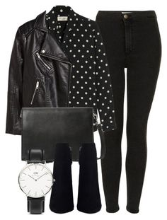 """Untitled #5096"" by laurenmboot ❤ liked on Polyvore featuring Topshop, Yves Saint Laurent, H&M, Violeta by Mango and Daniel Wellington"