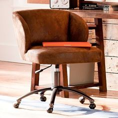 Trailblazer Wingback Desk Chair #potterybarnteen   $300 -- this in yellow or orange would be perfect