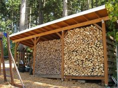 Wood shed designs - if you were doing it again   Page 2   Hearth.com Forums Home Firewood Storage, Firewood Rack, Kiefer, Built In Storage, Storage Shed Plans, Shed Plans 12x16, Wood Shed Plans, Garage Construction, Backyard Creations