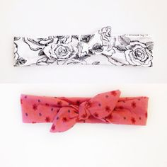 Jersey Knit Baby Girl Headband Tie Knot - Flowers - Spring - rose - poppy - rosette - jersey -bow - tie knot -stretch -baby toddler adult on Etsy, $8.95