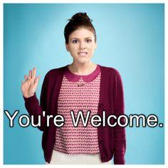 "Awkward; sadie saxton; ""You're welcome."" favorite show :) I love her!"