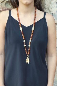 The Taylor Buffalo Horn Necklace by ExVoto Vintage Jewelry