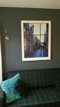 Gewoon een raam met een zelf gemaakte foto.