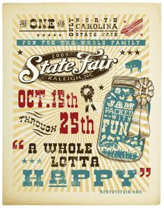 North Carolina State Fair poster