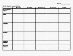 Single lesson plan template lesson plan record keeping for Singapore math lesson plan template