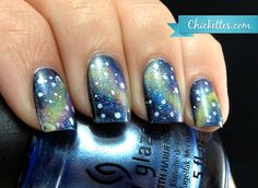 Galaxy Nail Art from Chickettes.com