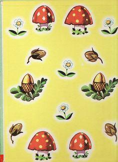 Mushroom Endpapers The Magic Acorn