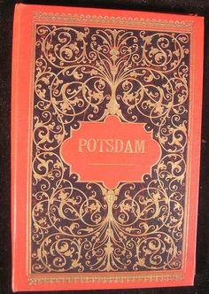 Potsdam Germany 1890's Tourist souvenir photo album w/ 12 nice views