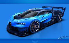 Voiture sportive Bugatti Chiron Gran Vision