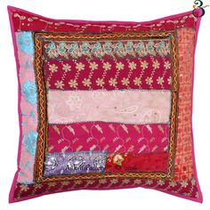 Pillow Insert is Not Included. This is a Cotton Fabric Hand Block Printed Cushion cover. - This Cushion Cover Has One Zipper Closure on The Back Side. - Both Side has Beige with Multi color Floral Pattern. Pink Pillow Cases, Bedroom Colors, Colourful Bedroom, Floral Cushions, Indian Ethnic, Cushion Covers, Pillow Inserts, Sewing Projects, Sofa