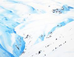 Snow (Clavadel), 80 x 120 cm, oil on canvas Oil On Canvas, Contemporary Art, Snow, Mountains, Landscape, Nature, Scenery, Naturaleza, Nature Illustration