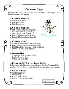 This 5 page packet includes a snowman glyph activity and a writing activity where the students write about an adventure their snowman goes on. Teaching Time, Teaching Writing, Writing Activities, Classroom Activities, Writing Ideas, Teaching Ideas, Educational Activities, Classroom Art Projects, Art Classroom