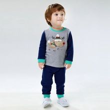 Autumn Boutique Kids Clothes Girls Toddler Boys Clothing Sets Cotton Long Sleeve Patchwork Christmas Boy Set Thanksgiving Outfit(China (Mainland))
