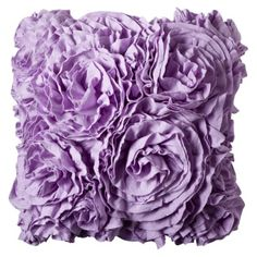 Xhilaration Jersey Ruffle Decorative Pillow Purple Decoration For Either The Glider Or