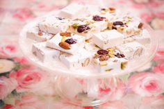 Soft nougat with pistachios,almonds and cranberries Pistachios, Almonds, Cranberries, Cereal, Sweets, Breakfast, Food, Pistachio, Morning Coffee