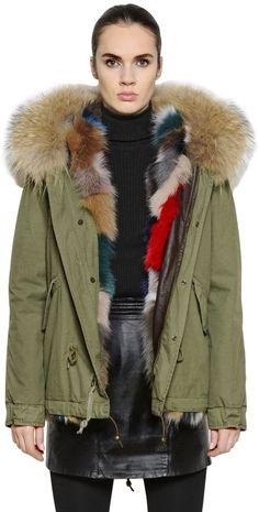 645fa213f364 Cotton Canvas Jacket With Fox Fur Canvas Jacket