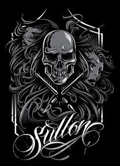 Sullen 1 by Dayne Henry Jr, via Behance