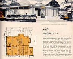 Living Room Design With Susanna Salk: A Valorie Hart Room Modern Floor Plans, Modern House Plans, House Floor Plans, Vintage Architecture, Architecture Design, Living Tv, Living Room, Vintage House Plans, Vintage Houses