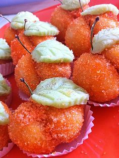 M'Chimeche - Algerian apricot-shaped sweets.