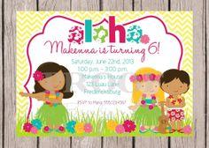 Printable Invitation  Personalized Luau Invitation  by ciaobambino, $12.00