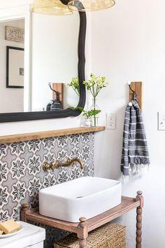Downstairs Bathroom: Cottage House Flip Reveal | Jenna Sue Design Blog