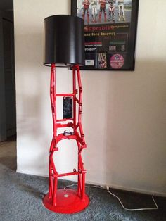 Lamp made from a Ducati ST4 motorcycle frame