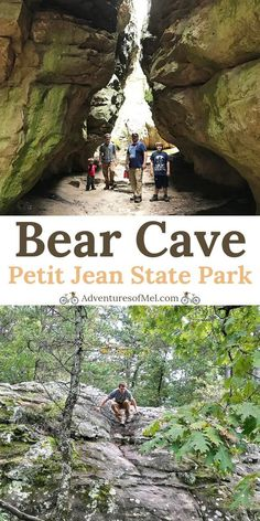 Hiking Bear Cave Trail in Petit Jean State Park - Hiking Bear Cave Trail in Petit Jean State Park Bear Cave Trail in Petit Jean State Park is a quarter mile Arkansas hiking trail filled with beautiful rock formations and narrow passageways. Places To Travel, Places To Go, Camping Places, Camping Stuff, Vacation Places, Vacation Destinations, Arkansas Vacations, Arkansas Camping, Petit Jean State Park
