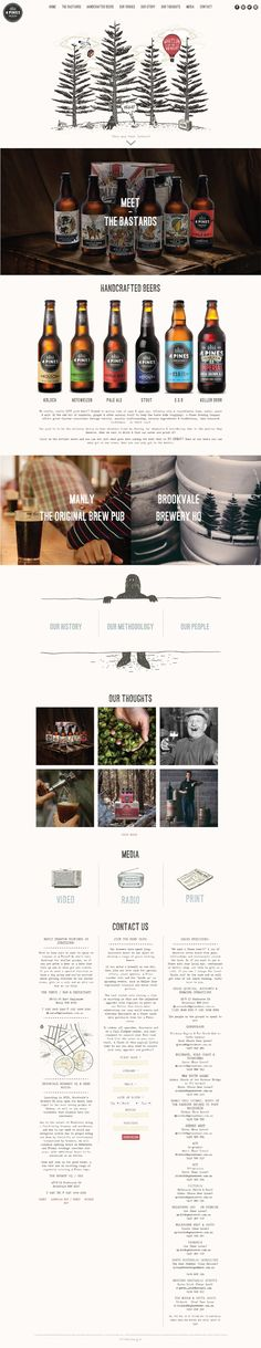4 Pines Brewing. Hancrafted beer. #webdesign #design (View more at www.aldenchong.com)