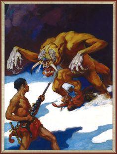 """J. Allen St. John , """"Yellow Men of Mars"""", cover of 'Amazing Stories', 1941."""