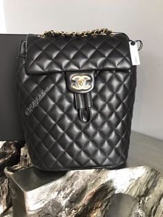 cdbc20eabfdd NWT CHANEL URBAN SPIRIT BACKPACK BLACK GOLD SMALL MEDIUM CLASSIC FLAP NEW  TRAVEL