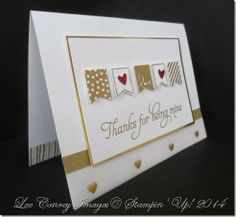 Fun Valentine Card using a FREE Sale-a-Bration Set and Punch. More details on my blog. stampingleeyours....