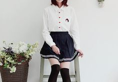 Thumbnail for 23435 Cute Asian Fashion, Japanese Fashion, Korean Fashion, Harajuku Fashion, Kawaii Fashion, Skirt Fashion, Fashion Outfits, Korean Outfits, Fashion Pictures