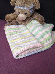 Baby crochet afghan,Crochet Baby Blanket,Baby Blanket,Handmade Bedspread,White pink green blue,Throw Bedspread,travel stroller pram size - pinned by pin4etsy.com
