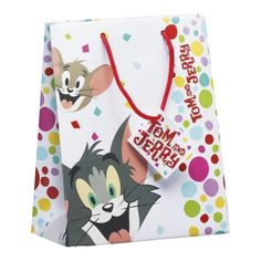 Tom And Jerry Cake Medium Gift Bag 18cm x 10cm x 22.5cm