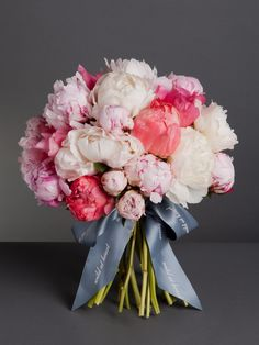 Nikki's favourite Blush Peonies Bouquet - This stunning bouquet combines beautiful blush pink, cream and coral pink peonies, the perfect statement bouquet - wildatheart.com