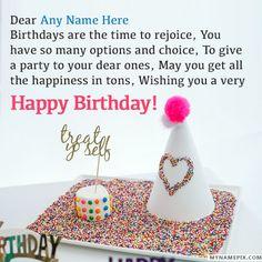 Write Name On Doll Birthday Wish Happy Birthday Wishes Qoutes