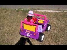 ▶ Payton's Dora Jeep Wrangler. what a wonderful Christmas present :-)