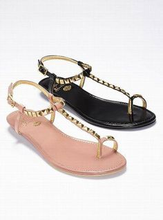 78bc9412666a47 Sophistication meets edge in the Colin Stuart Stud T-strap Sandal from Victoria s  Secret. With shimmery pyramid studs on a streamlined silhouette
