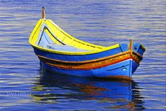 The Luzzu a traditional Maltese fishing boat. If you would like to know more about the Maltese Islands please click on the link below.