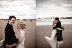Newlyweds on St Andrews Beach, Archibald Photography