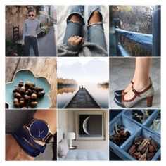 """""""Blue"""" by crsevier ❤ liked on Polyvore featuring Blue and brown"""
