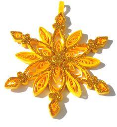 Christmas quilling star by HandmadeByLaviniaC on Etsy,