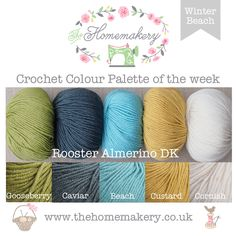Crochet Colour Palette: Winter Beach featuring Rooster Almerino DK - The Homemakery