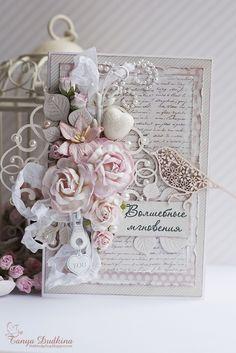 """Привет!   Сегодня у нас весеннее настроение и первая открытка в моем шустром новом СП """"Весенние открытки"""" Открыточка цветочная, главная ..."""
