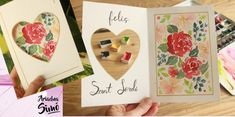 Arte, Artesania y Manualidades Ideas, Scrapbooking, Mini Albums, Arts And Crafts, Tutorials, Watercolor Painting, Scrapbooks, Thoughts, Memory Books