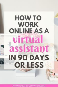 Want to work online as a virtual assistant? Here's how I went from online English teacher to virtual assistant in less than 90 days! Legitimate Work From Home, Work From Home Jobs, Make Money From Home, Way To Make Money, Admin Work, Virtual Assistant Services, Earn Money Online, Online Work, Marketing Digital