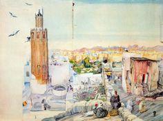 Carlos Sáenz de Tejada (Tánger, 1897- Madrid, 1958  Vista de Tetuan