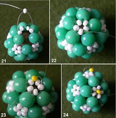Use this tutorial for the Christmas Beaded Bead.