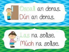 Gaeilge sa Seomra Ranga - Irish in the Classroom - flashcards Irish Language, Scottish Gaelic, Primary Teaching, Learning Resources, Classroom, Homeschooling, Celtic, Ireland, Interior